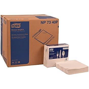 Tork NP7340P Advanced Extra Soft Dinner Napkin, 1/4 Fold, 3-Ply, 17.00
