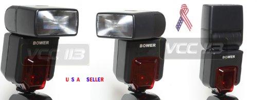 Dedicated Bower SFD926 ETTL Powerful Bounce & Zoom LCD Flash For Canon EOS Rebel XT XTI XSI T1I 1Ds 1D 20D 5D 300D 350D 450D 400D II 10D T2 TI K2 GII 7N 7NE 20D 30D 40D 50D 1000D 550D Includes Built In Difusser & Reflector + Mini Tripod + BP Cloth