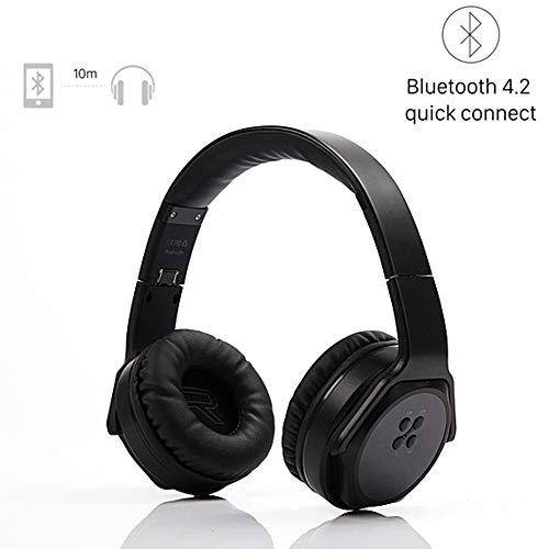 ZJY Auriculares Bluetooth, Over-Ear 2 in1 Auriculares inalámbricos Plegables con Twist-out Altavoz estéreo Diadema NFC TF...
