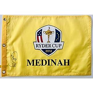 Rory Mcilroy signed Ryder cup golf flag medinah 2012 team europe pga