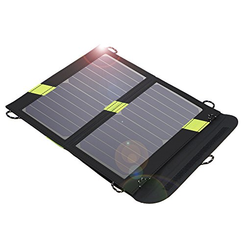 Solar Charger, X-DRAGON 14W SunPower Solar Panel SolarIQ Technology& Dual USB Port Compatible iPhone X 8, ipad Mini, Cell Phone, Android, Outdoor, Camping