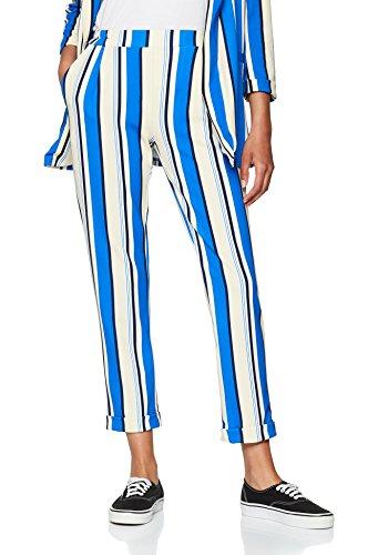 New Look 40 Donna blue 49 Pattern Pantaloni 5847796 FPCOxqAwFS