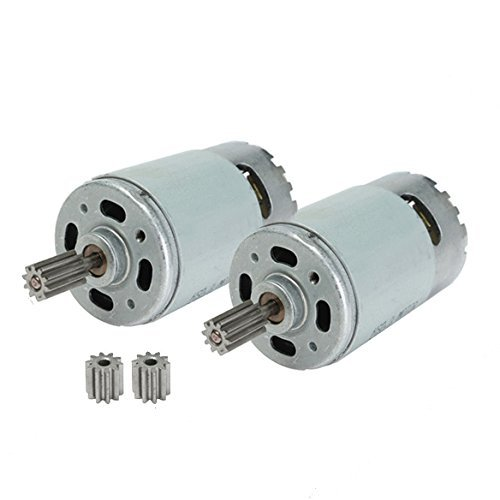 2 Pcs Universal 550 35000 RPM Electric Motor RS550 12V Motor Drive Engine Accessory for Kids Power Wheels RC Car Children Ride on Toys Replacement Parts ()