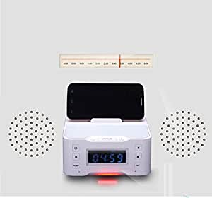 YYYBW Portable Loudspeaker Bluetooth Speaker Station Design for Apple Samsung Android iPod/Touch/iPhone with clock