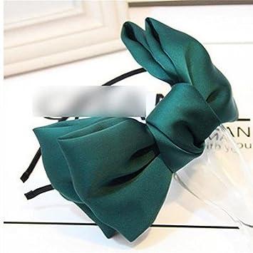 Fendii Mode Accessoires Cheveux en Mousseline Satiné Double Nœud Bandeau, Tissu, Rose, 18 * 9cm