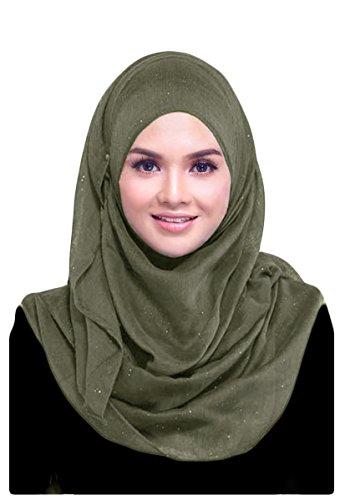 Hanas Womens Plain Glitter Viscose