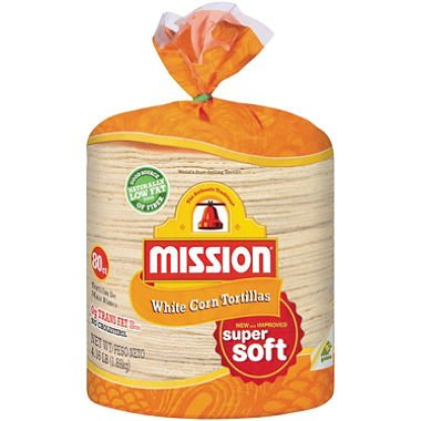 Mission White Corn Tortillas (4.16 lb., 80 ct.) by Mission