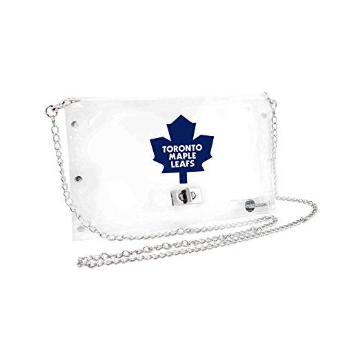 NHL Toronto Maple Leafs Clear Envelope Purse, 10 x 5 x 6.5-Inch, Clear
