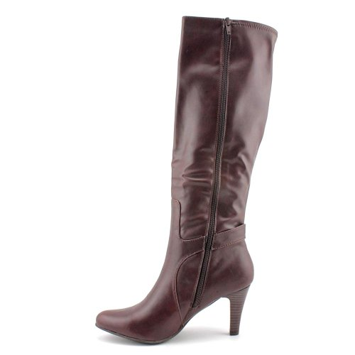 High Womens Fashion Pointed Toe Mountain Brown White Knee Garnet Boots 74WUY5qqw