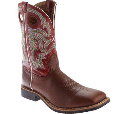 Gedraaide X Heren Bordeaux Hoge Top Cowboylaars Vierkante Neus - Mth0019 Ox Blood / Rood Leer