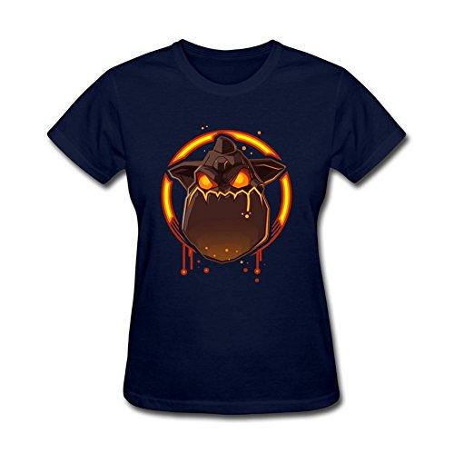 Tommery Women's Lava Hound Game Design Short Cotton T - Lava Hounds