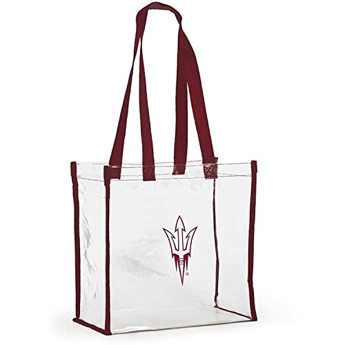 Desden Open Stadium Tote Clear Utility Bag for Shopping & Work - Arizona State by Desden