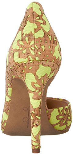 Women's Nat Jessica Claudette Simpson Yellow Pumps Laser SP6Oa