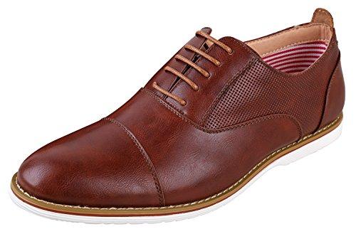 Ferro Aldos Heren Marshall Oxford Dress Shoes | Cap Teen Schoenen | Moderne Oxford Schoenen Heren | Veterschoenen | Veterschoenen Bruin