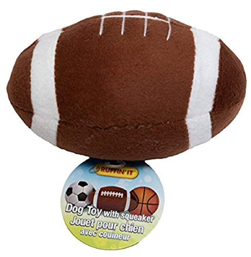 "Ruffin It Westminster Plush Sports Ball Dog Toy, Football 5.5"" x 3.5"" x 3.5"" ()"