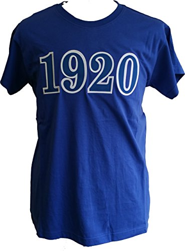 Buffalo Dallas Zeta Phi Beta 1920 Applique Ladies Tee [Short Sleeve - Blue - M]