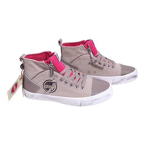 COLMAR Women's Trainers grey light-grey -red 3.5 light-grey -red 5xpfNW5