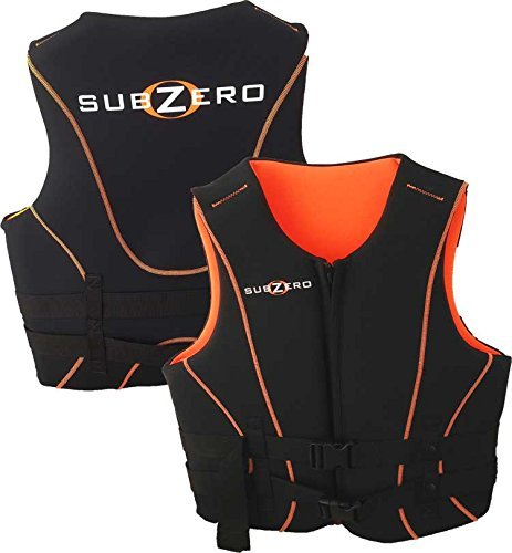XL Mens Neoprene Sub Zero Black/ Orange by Sub Zero neoprene & nylon Life Jackets