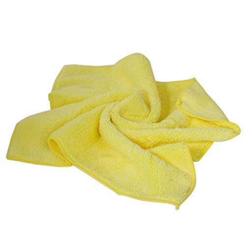 Microfiber Cleaning Cloth Towel 24 Pack – Car Microfiber Towel – Microfiber Towels for Cars – Large Microfiber Cleaning Cloths - Blue or Yellow Microfiber Cloths 24 Pack (Yellow) by Imperial Home