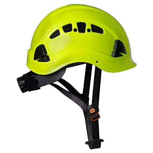 PPE By JORESTECH - ABS Work-At-Height and Rescue Hard Hat Slotted Ventilated Helmet w/Adjustable Ratchet 6-Point Suspension ANSI Z89.1-14 (Lime) by JORESTECH  (Image #5)