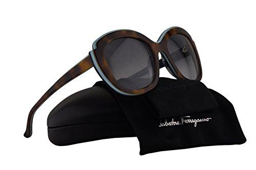 Salvatore Ferragamo SF726S Sunglasses Havana Aqua w/Gray Gradient Lens 225 SF 726S -