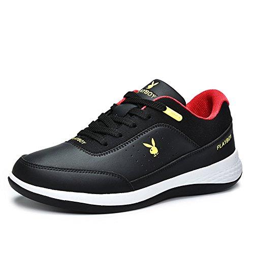 hyun Damping Lacing Genuine Fixed Shoes Sport DeLamode PlayBoy Running Sneakers Black Men WxnwAzAFqg