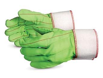 Superior Q24LGBRLRT Cotton Hot Mill Glove, Work, Lime Green (Pack of 1 Dozen)