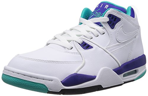 Nike Air Flight 89 Mens Basketball Shoes White/Dark Concord/Hyper Jade sale best pick a best clearance big sale discount best seller high quality for sale 8lwxfEEV