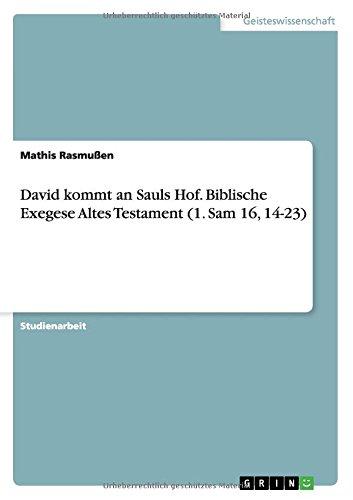 Read Online David kommt an Sauls Hof. Biblische Exegese Altes Testament (1. Sam 16, 14-23) (German Edition) ebook