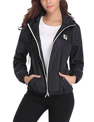 a91e44a1c Abollria Raincoats Waterproof Lightweight Rain Jacket Active Outdoor Hooded  Women's Trench Coats by Abollria