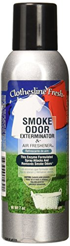 Tobacco Outlet Products Clothesline Fresh Smoke Odor Exterminator 7oz (Best Spray For Smoke Smell)