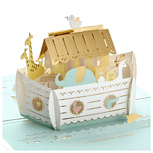 Hallmark Signature Paper Wonder Pop Up Baby Shower Card (Noah's Ark)
