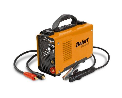 Defort Inverter Schweißgerät mit 6200 W 6,2 kW stufenlose Schweißstromregelung, 10-200 A, Schutzschild, DWI-200S