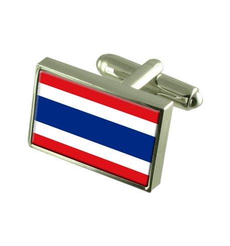 Thaïlande Boutons de manchette drapeau avec select pochette cadeaux