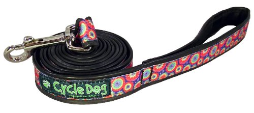Recycled Dog Leash Narrow Width, Tie Dye, 6-Feet
