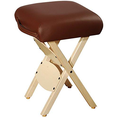 Master Massage Tables Lightweight Wooden Handy Folding Massage Stool, Chocolate Discount Portable Massage Table
