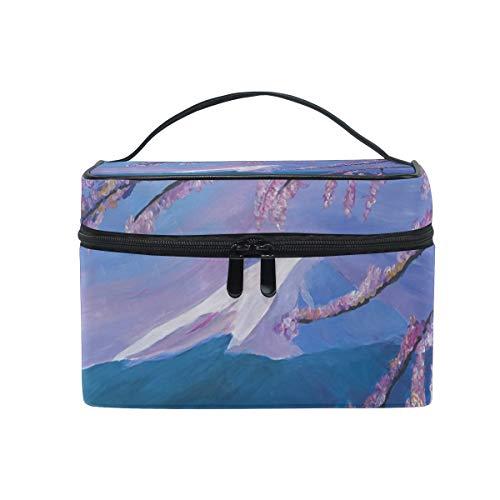 (MALPLENA Cherry Blossom Tree makeup bag and cases Cosmetic Bags)