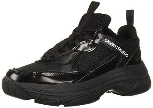 CK Jeans Men's Marvin Sneaker, Black Nylon/Metal, 9 M US