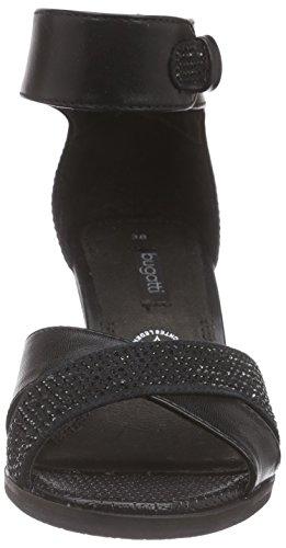 Bugatti V67836n - Sandalias de tobillo Mujer Negro - negro