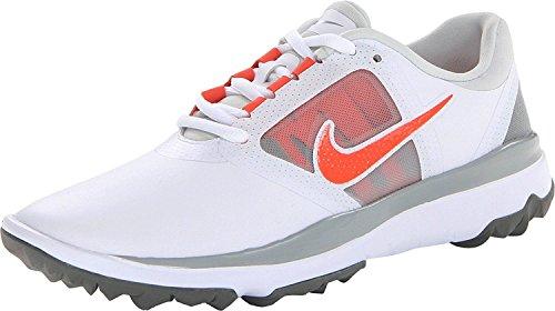 NIKE Golf Women's FI Impact Golf Shoe, White/Orange/Light Base Grey, 7.5 B(M) US (Shoe Nike Fi Womens Impact Golf)