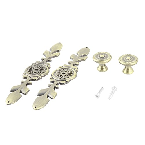 uxcell Metal Apartment Office Vintage Style Rectangle Garderobe Door Pull Handle Knob 2pcs by uxcell