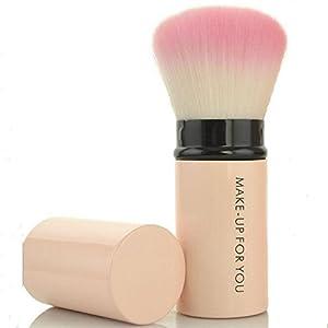 Premium Retractable Kabuki Makeup Brush - Blush Brushes Great for Blending Liquid, Cream & Mineral Cosmetics or Translucent Powder - 1piece