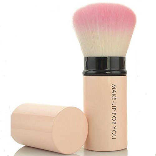 - Premium Retractable Kabuki Makeup Brush - Blush Brushes Great for Blending Liquid, Cream & Mineral Cosmetics or Translucent Powder - 1piece
