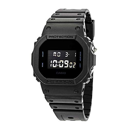 Casio Men's G Shock Quartz Watch with Resin Strap, Black, 30 (Model: DW-5600BB-1CR) (G Shock Rose Gold & Black Collection)