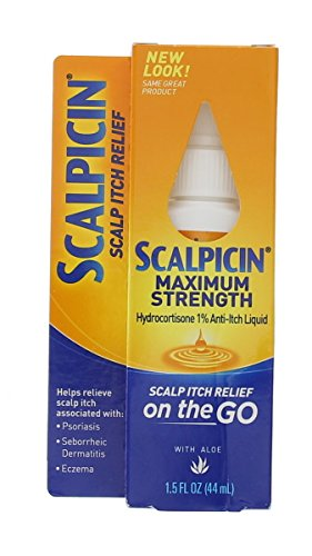 Scalpicin Scalp Itch Relief, 1.5 fl Oz. Maximum Strength (Pack of 2) (Treatment Itchy Scalp)
