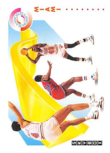 1991-92 SkyBox Basketball #472 Glenn Rice/Rony Seikaly Miami Heat TW Official NBA Trading Card