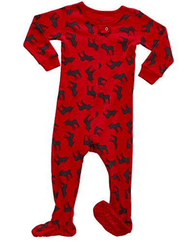 Moose Footed Pajama 6-12 Months