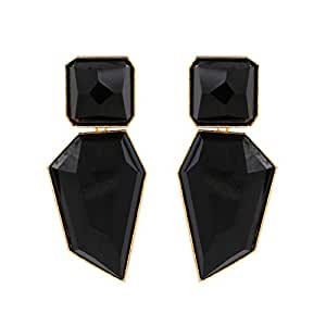 Acrylic Geometric Drop Statement Earrings