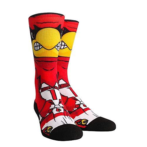 NCAA Super Premium College Fan Socks (L/XL, Louisville Cardinals - Mascot)