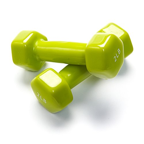Black Mountain Products Vinyl Dumbbell Set Of 2, 2lb